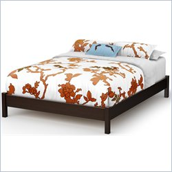 South Shore Step One Queen Platform Bed in Chocolate