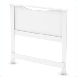 South Shore Step One Twin Headboard in Pure White