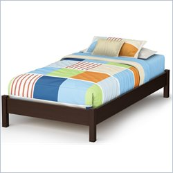 South Shore Step One Twin Platform Bed in Chocolate