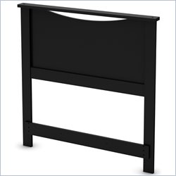 South Shore Step One Twin Headboard in Pure Black