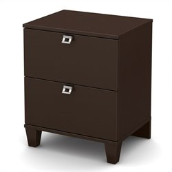 South Shore Karma Night Stand in in Chocolate