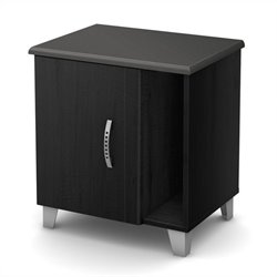 South Shore Lazer Night Stand in Black Onyx