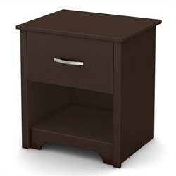 South Shore Fusion Night Stand in Chocolate