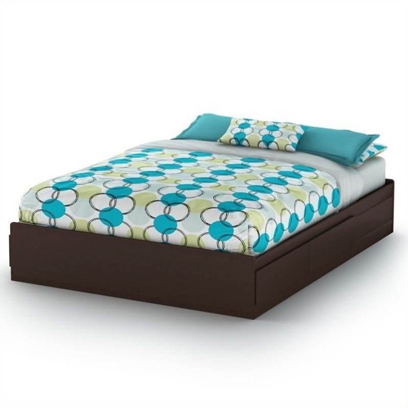 South Shore Fusion Queen Mates Bed (60'') in Chocolate