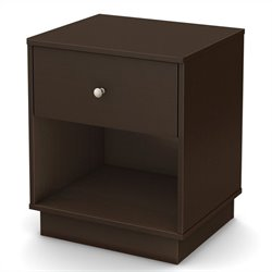 South Shore Litchi Night Stand in Chocolate