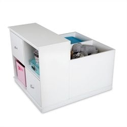 South Shore Mobby Mobile Storage in Pure White