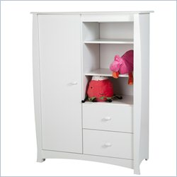 South Shore Beehive 2 Drawer Armoire in Pure White