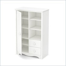 South Shore Angel 2 Drawer Armoire in Pure White
