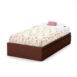 South Shore Little Treasures Mates Bed in Royal Cherry