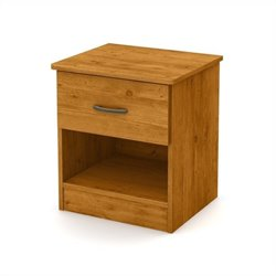 South Shore Libra 1-Drawer Night Stand in Country Pine