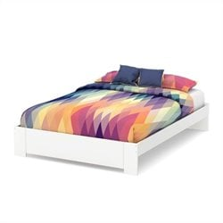 South Shore Reevo 60 Inch Queen Platform Bed in Pure White