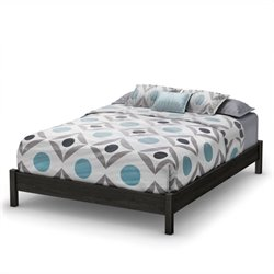 South Shore Step One 60 Inch Queen Platform Bed in Gray Oak