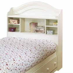 South Shore Summer Breeze Bookcase Headboard in White