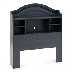 South Shore Summer Breeze Bookcase Headboard in Blueberry