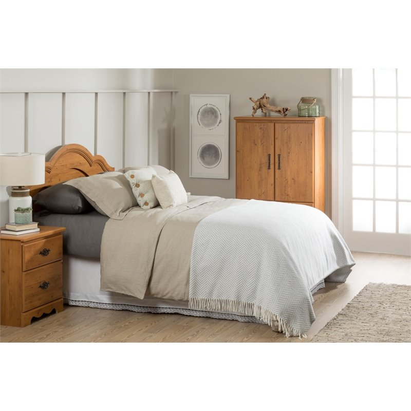 South Shore Prairie Full / Queen Panel Headboard in Pine
