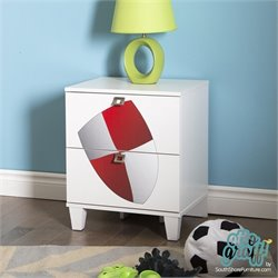 South Shore Andy 2 Drawer Night Stand in Pure White