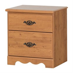 South Shore Prairie 2 Drawer Nightstand in Country Pine Finish