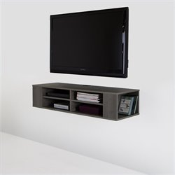 South Shore City Life 48'' Wide Wall Mounted Media Console in Gray Maple