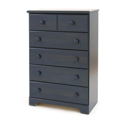 South Shore Summer Breeze 5 Drawer Chest in Antique Blue Finish
