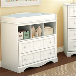 South Shore Handover Changing Table in White Finish