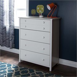 South Shore Little Smileys 4 Drawer Chest in Pure White