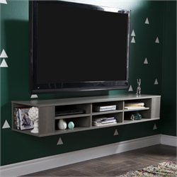 South Shore City Life TV Stand in Gray Maple