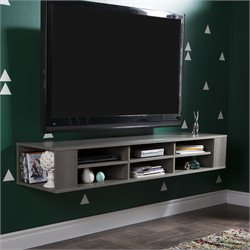 City Life Wall Mounted Media Console in Gray Maple