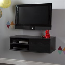 Agora Wall Mounted Media Console in Black