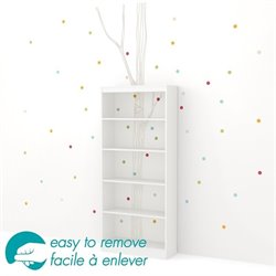 Axess 5 Shelf Bookcase in White