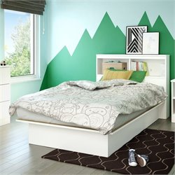 Libra Twin Bookcase Platform Bed