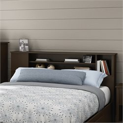 Fusion Wood Full Queen Bookcase Headboard