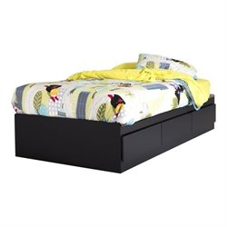 Fusion Wood Twin Mates Drawer Bed