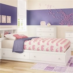Litchi Wood Twin Mates Bed