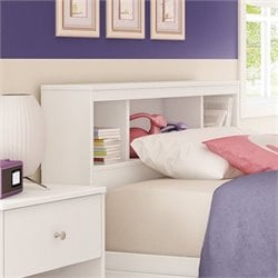 Litchi Wood Twin Bookcase Headboard