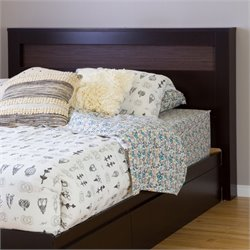 Vito Wood Full Queen Panel Headboard in Chocolate