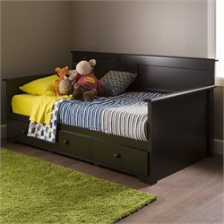 South Shore Summer Breeze Wood Twin Storage Daybed in Chocolate