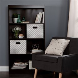 Axess Wood Bookcase in Chocolate with 2 Baskets