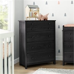 South Shore Little Smileys 4 Drawer Wood Chest in Gray Oak