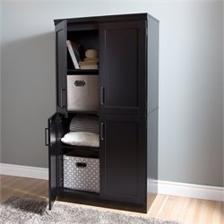 Morgan 4 Door Wood Shaker Armoire