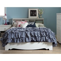 South Shore Crystal Wood Full Mates Bed in White