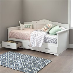 South Shore Sabrina Wood Twin Storage Daybed in White