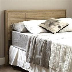 South Shore Gravity Wood Queen Panel Headboard in Rustic Oak
