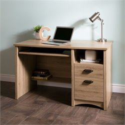 Gascony 2 Drawers Wood Computer Desk