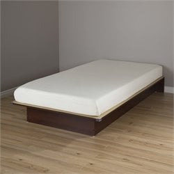 Libra Wood Twin Platform Bed and 6