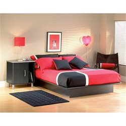 South Shore Cosmos Black Modern Platform Bed