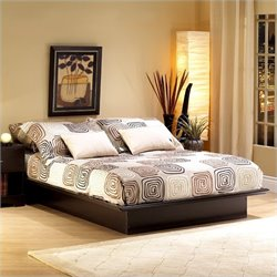 South Shore Back Bay Platform Bed in Dark Chocolate