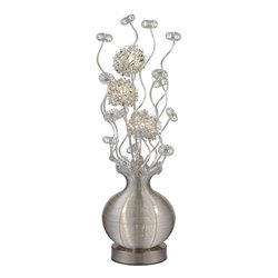 Dimond Lighting Lazelle Floor Lamp in Silver