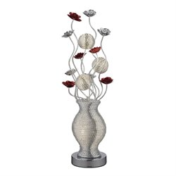 Dimond Lighting Flute Floor Lamp in Silver