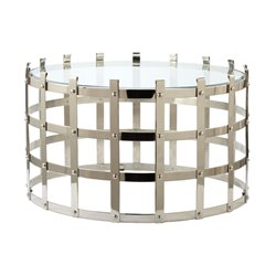 Dimond Home Round Coffee Table in Silver