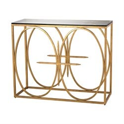 Dimond Home Amal Console Table in Antique Gold Leaf